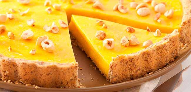 torta - Torta Mousse de Mangas com Avelãs