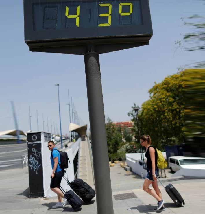 43 graus de temperatura em termometro de rua - Terra registrou a 4ª temperatura média mais alta já registrada