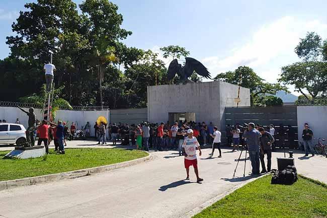 Alojamento no CT do Flamengo não constava na licença - Alojamento no CT do Flamengo não constava na licença da prefeitura