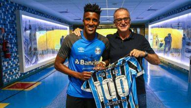 Bruno Cortez jogador do Grêmio 390x220 - Bruno Cortez recebe homenagem pelos 100 jogos no Grêmio