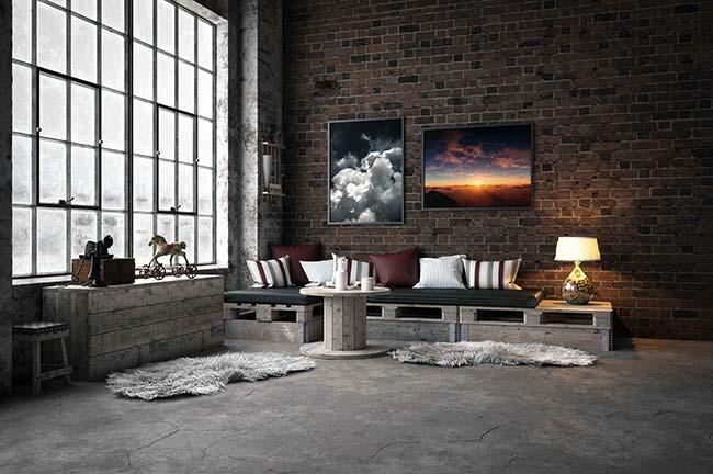 Decoração Industrial III - Decoração Industrial: Telhanorte dá dicas para escolher o piso ideal para compor o ambiente