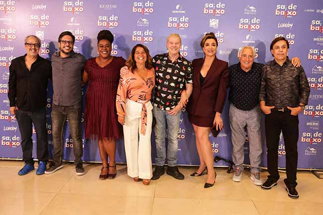 Elenco 0151 - Pré-estreia do filmeSai de Baixo reuniu famosos em SP