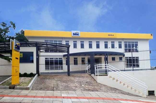 Fachada Escola Sesc Criciúma - Sesc/SC inaugura nova Escola em Criciúma e Quadra Comunitária em Forquilhinha