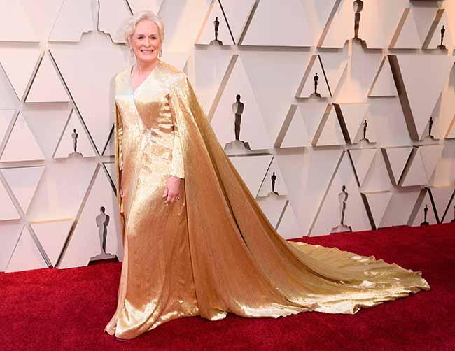 Glenn Close CREDITO E ENTERTAINMENT @EONLINELATINO - A moda no tapete vermelho do Oscar 2019