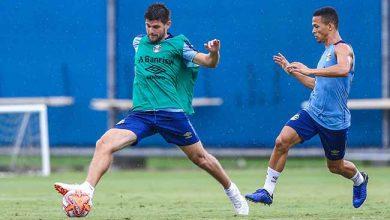 Grêmio faz treino técnico 390x220 - Grêmio faz treino técnico sem indicativo de time para enfrentar o Brasil de Pelotas