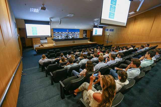 IEE promove encontro entre associados e dirigentes gremistas na Arena 2 - IEE promove encontro entre associados e dirigentes gremistas na Arena