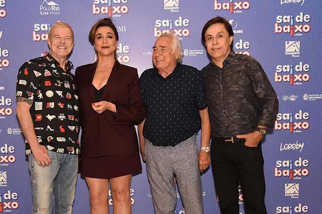 Miguel Falabella Marisa Orth Luis Gustavo e Tom Cavalcante 0178 - Pré-estreia do filmeSai de Baixo reuniu famosos em SP