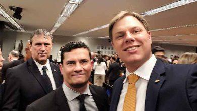 O deputado federal Lucas Redecker em Brasilia com o ministro Sérgio Moro 390x220 - Redecker participa de reunião com ministro Sérgio Moro