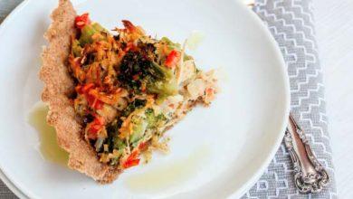 Quiche de brócolis alho poró e frango 390x220 - Quiche de brócolis, alho-poró e frango