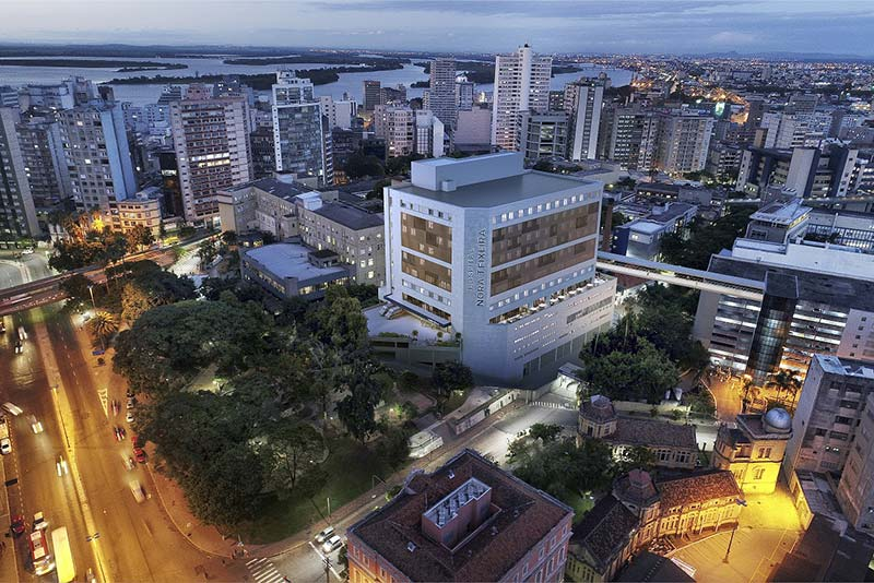 Santa Casa Porto Alegre hospital nora teixeira - Santa Casa recebe doação do casal Nora Teixeira e Alexandre Grendene