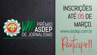 VIII Prêmio ASDEP de Jornalismo 390x220 - Inscrições para o VIII Prêmio ASDEP de Jornalismo se encerram na próxima semana