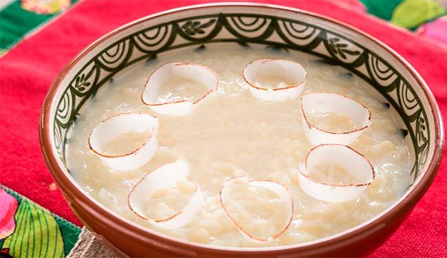 canjica coco - Canjica com coco
