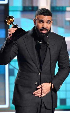 drake grammy winner 2019 290x468 - Os ganhadores do Grammy Awards 2019