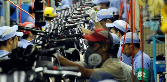 industria - Produção industrial cresce 0,3% de março para abril