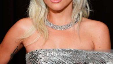 lady gaga com colar tiffany  390x220 - Lady Gaga usou colar da coleção Tiffany Blue Book no 61º Grammy Awards