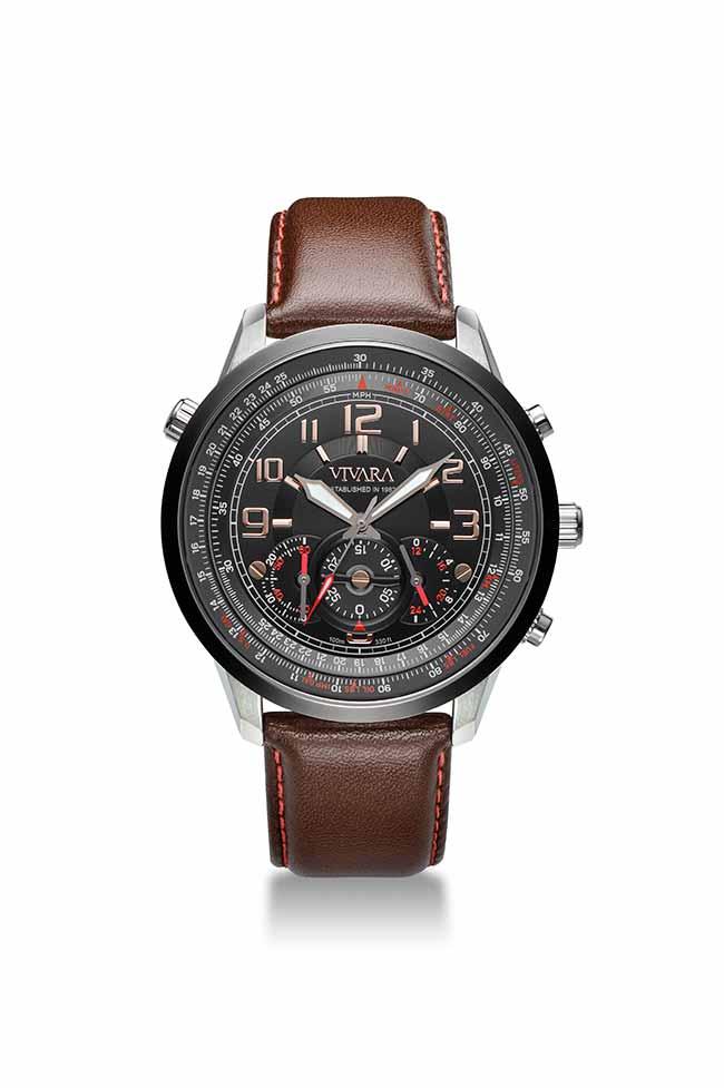 rel vivara marron - Vivara lança relógio masculino Aviator III