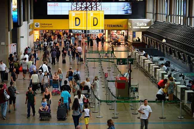 saguao aeroporto - Tarifa aérea doméstica caiu 1,3% no primeiro trimestre