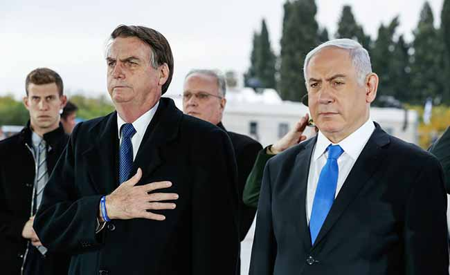 Jair Bolsonaro em Israel - Brasil e Israel formalizam acordos e entendimento