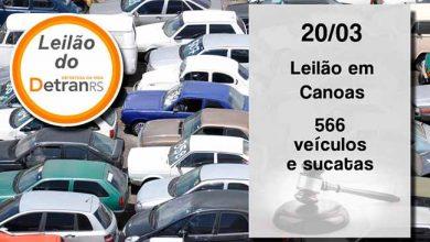 Leilão do DetranRS oferece 566 veículos e sucatas em Canoas 390x220 - Leilão do DetranRS em Canoas nesta quarta