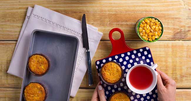 Muffin Salgado de Milho - Muffin Salgado de Milho