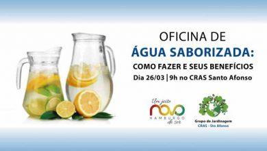 Novo Hamburgo Oficina Água 390x220 - Oficina gratuita de água saborizada no Santo Afonso