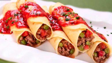 Panqueca de carne e creme de cebola 390x220 - Aprenda a fazer panqueca de carne com creme de cebola