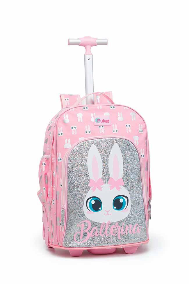 Puket mochila rodinhas coelha bailarina R 44990 - Puket apresenta linha especial para Páscoa