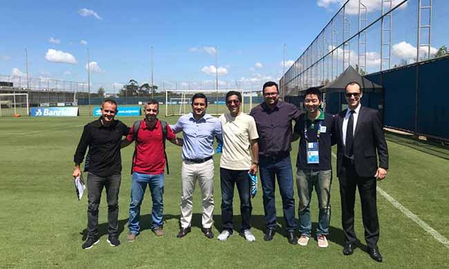 Representantes da Seleção do Catar - Representantes da Seleção do Catar visitam instalações do CT do Grêmio