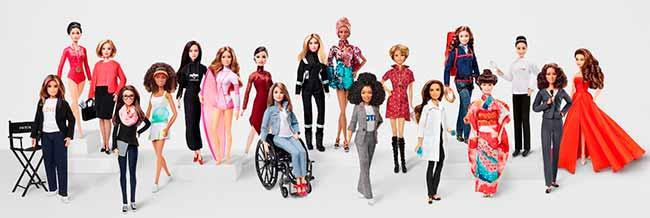 barbies - Barbie homenageia ícones femininos no Dia Internacional da Mulher