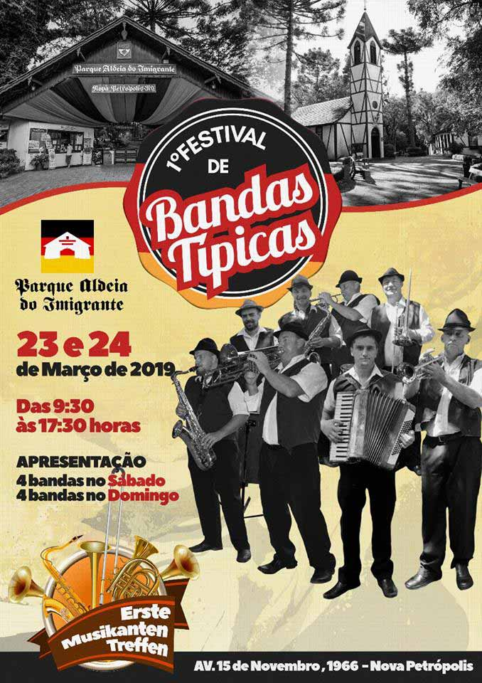 cartaz - Nova Petrópolis terá 1º Festival de Bandas Típicas Alemãs