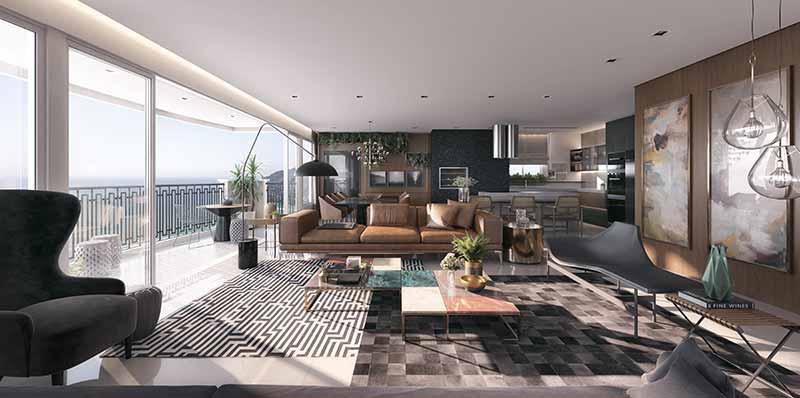 AUR 13 Living Geral EF B - Luxo em Balneário Camboriú: Hamptons Village e Aurora Exclusive Home