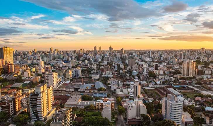 Caxias do Sul foto panorâmica - Em Caxias 7,3 mil empresas tem pendências fiscais com a prefeitura