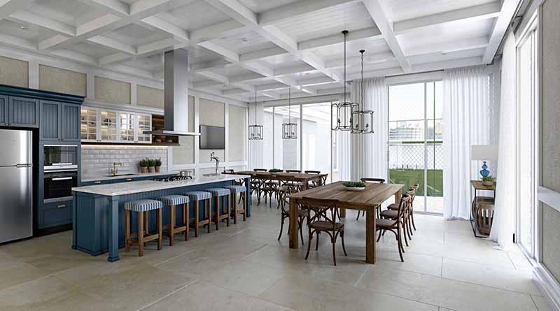 HAM 18 Quiosque Gourmet EF - Luxo em Balneário Camboriú: Hamptons Village e Aurora Exclusive Home