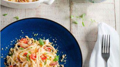 Linguini com Anchova e Crumble de Pão Aromatizado 390x220 - Linguini com Anchova e Crumble de Pão Aromatizado
