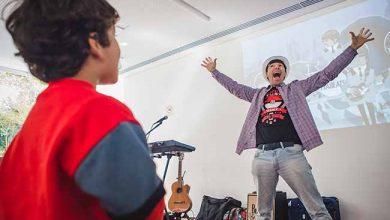 Photo of Bob Bopsin ministra musicalização para crianças no Instituto Ling