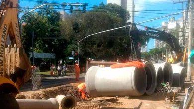 Obras estão na Bento Gonçalves em Novo Hamburgo 390x220 - Obras estão na Bento Gonçalves esquina com a Joaquim Nabuco