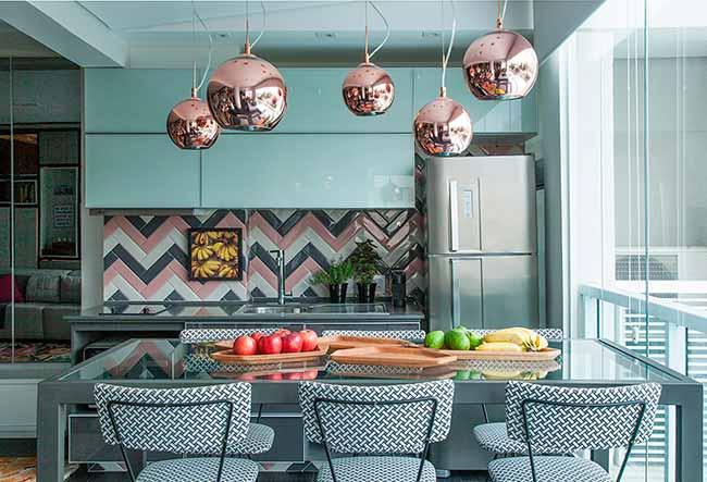 Projeto Andrade Mello Arquitetura Foto Luis Gomes - Ideias para usar o chevron na decoração