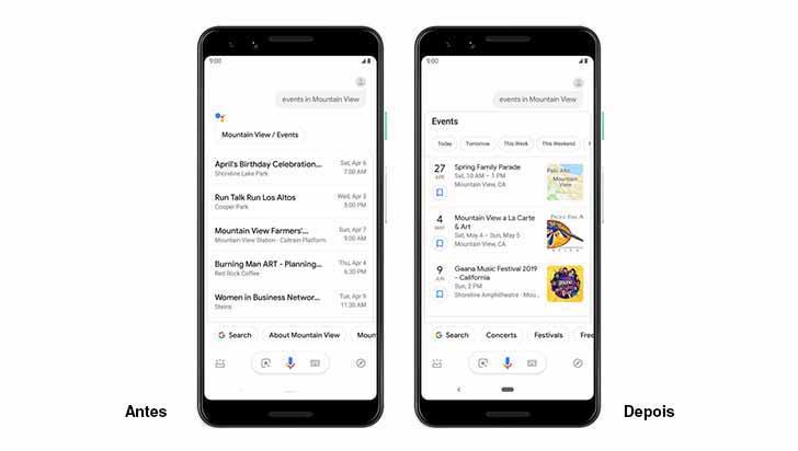 Tela Google 1 - O Assistente do Google no Android recebe respostas mais visuais