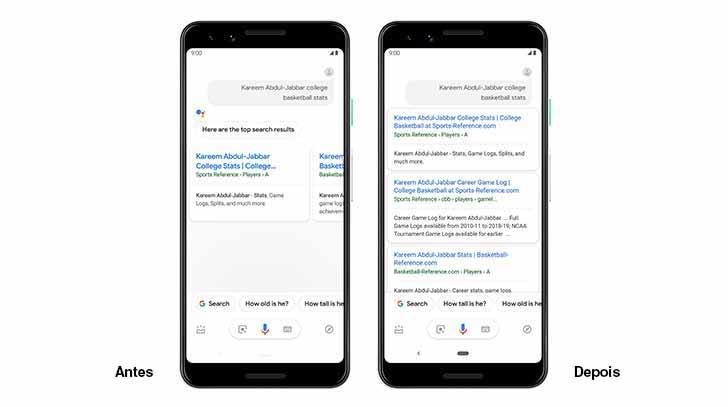 Tela Google 2 - O Assistente do Google no Android recebe respostas mais visuais