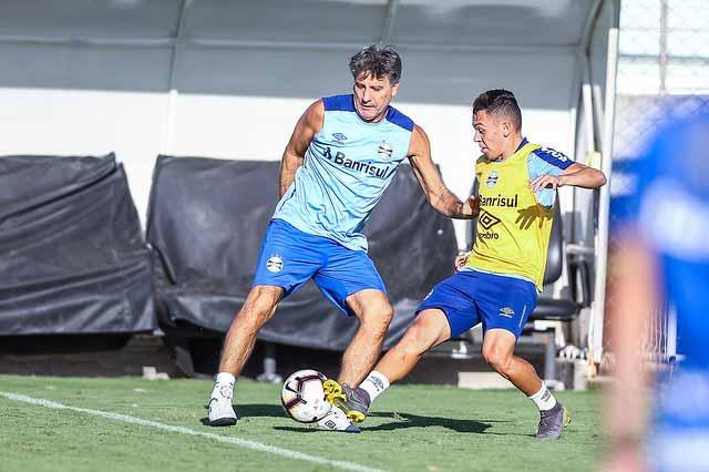 Treino do Grêmio 2 - Grêmio encerra preparativos para decisão contra Rosario Central