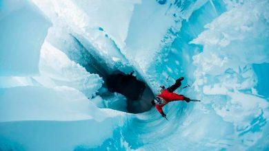 Photo of Groenlândia: alpinista e herói da ONU explora os subterrâneos de calota de gelo