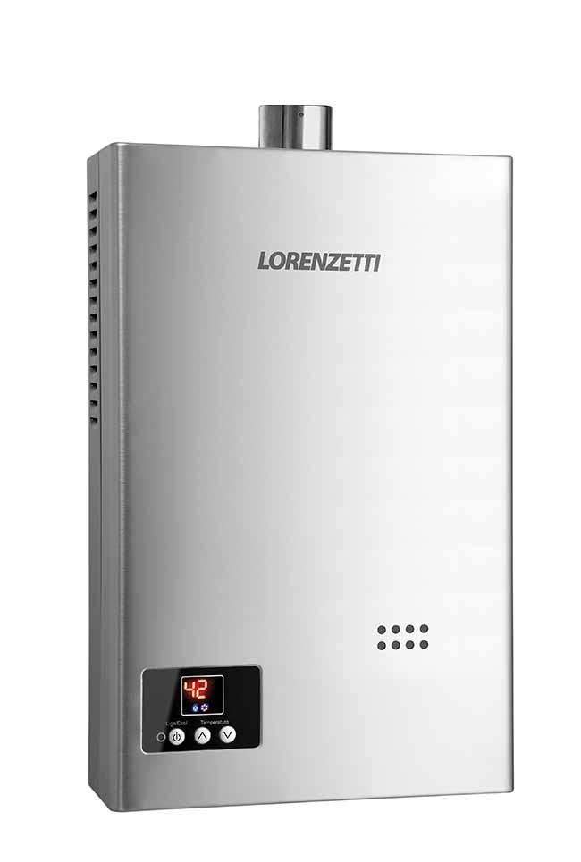 chuveiro gas - Lorenzetti lança aquecedores de água a gás digitais em inox