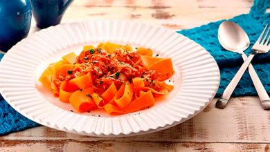 fettuccine de cenoura  390x220 - Fettuccine de cenoura