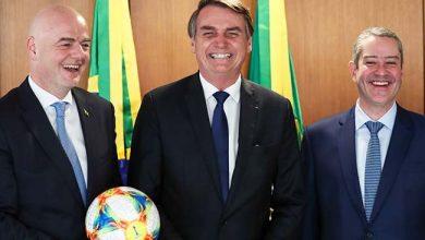 ministro do gsi presidente da fifa presidente da conmebol e presidente da cbf 32638082267 o 390x220 - Bolsonaro recebe presidentes da Fifa e da CBF