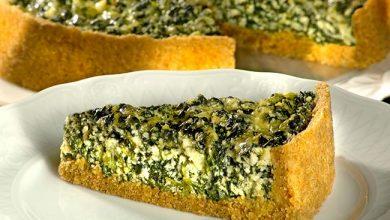 torta ricota 390x220 - Torta de Ricota com Espinafre