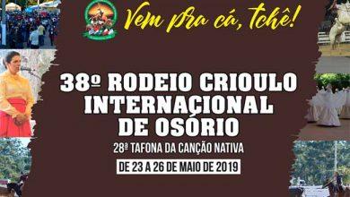 38 Rodeio de Osorio 390x220 - Confira a programação do 38º Rodeio de Osório