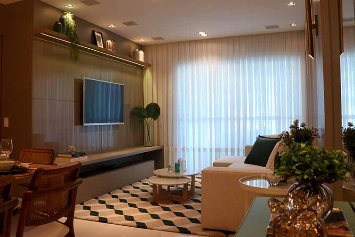 Apartamento decorado - Construttore Empreendimentos entrega edifício Solares da Brava HomeBeach