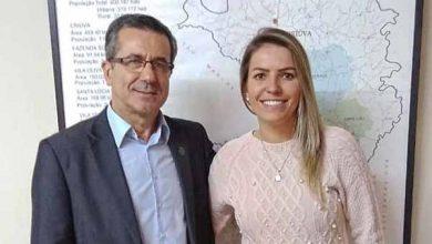 Camila Sandri Sirena 390x220 - Secretária da Agricultura de Caxias recebe presidente da Emater