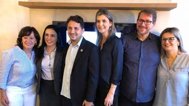 Coordenação do Núcleo com a presidente da Acibalc Maria Pissaia com os vereadores John Lenon e Jane 390x220 - Camboriú ganha núcleo para promover crescimento do município e empresariado