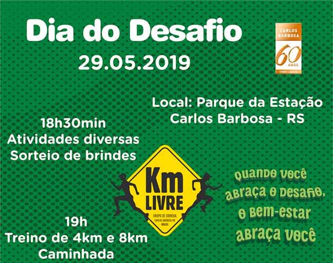 Dia do Desafio em Carlos Barbosa - Hoje é Dia do Desafio em Carlos Barbosa